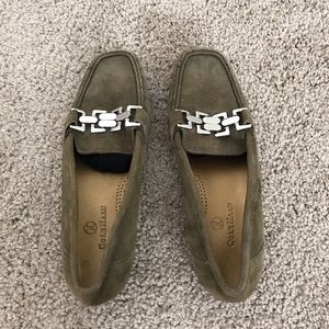 Olive green Cole Haan loafers